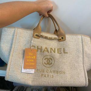 Chanel Deauville Cream Beige Gold
